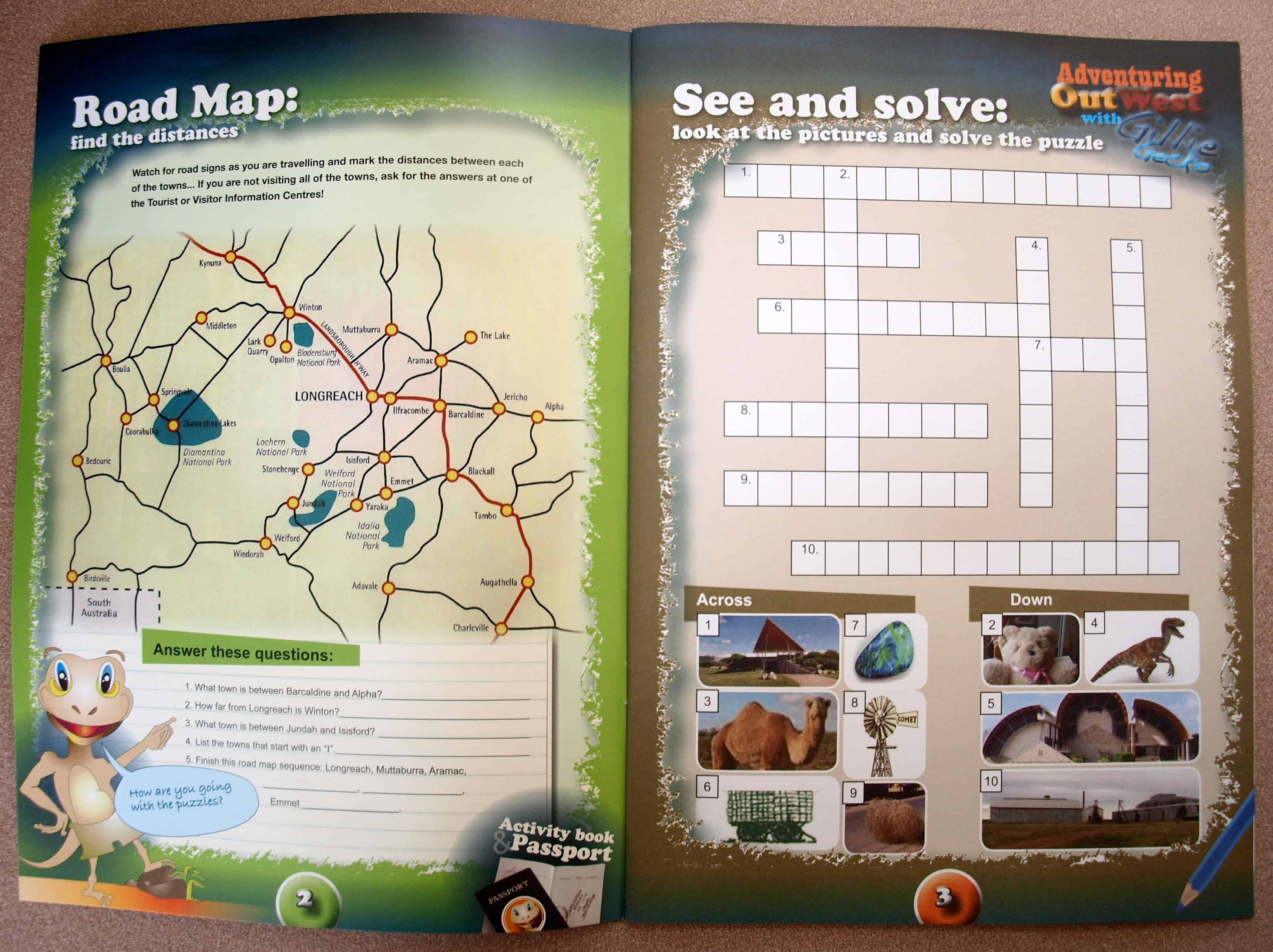A free activity book about Western Queensland that we picked up in Barcaldine