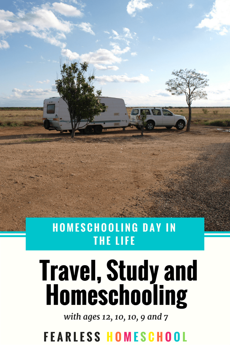 Travel, study and homeschool - a day in the life from Fearless Homeschool