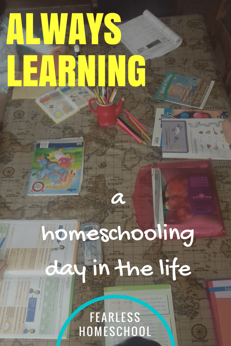 Always Learning – a homeschooling day in the life