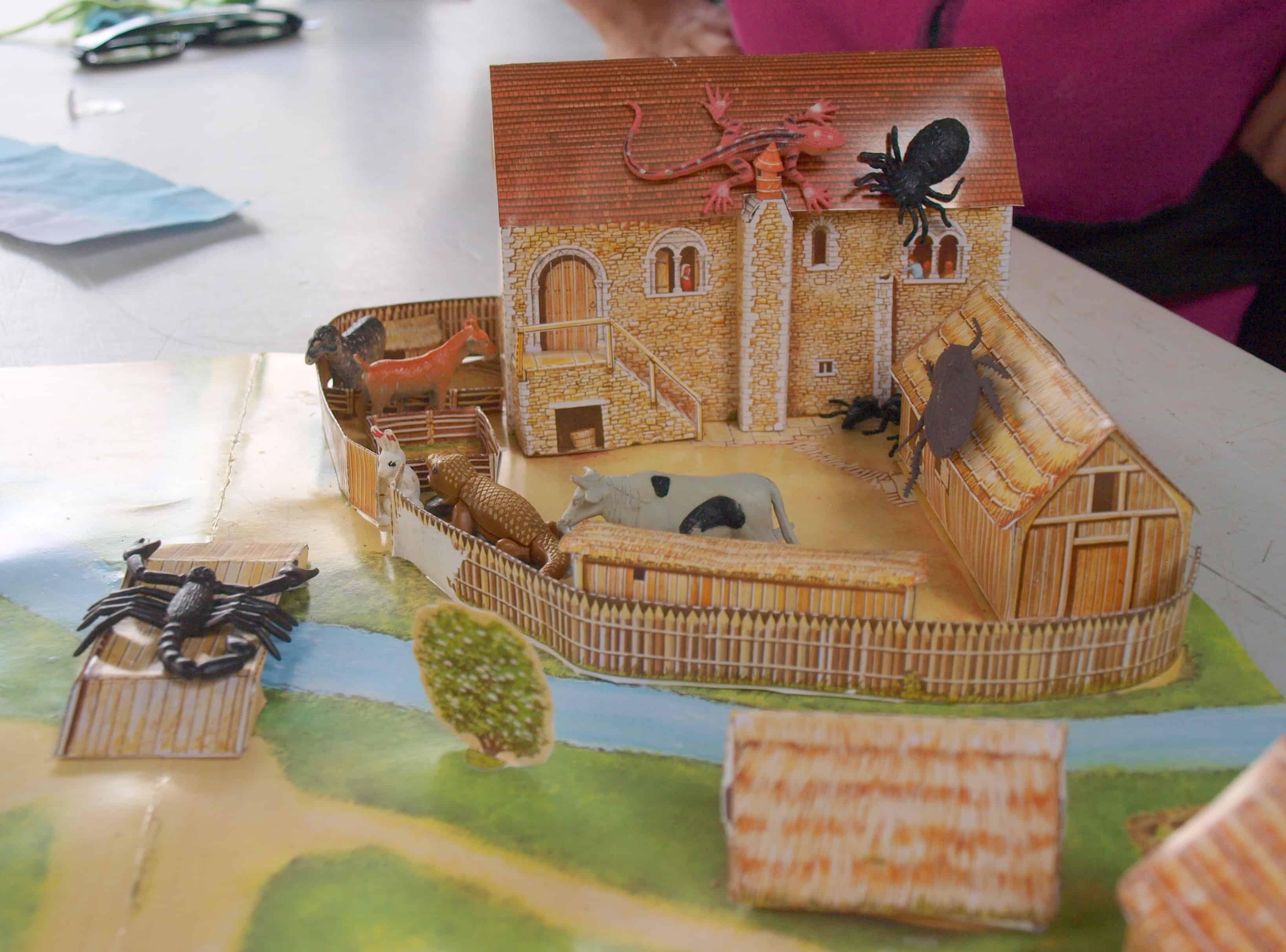 Build a Roman Villa plus farm animals equals hours or entertainment.