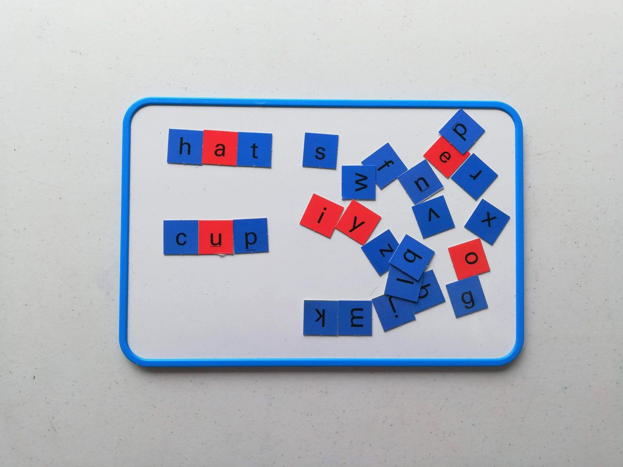 All About Reading Spelling letter tiles