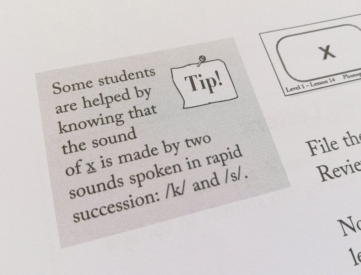 All About Reading teacher's Manual sample - tips
