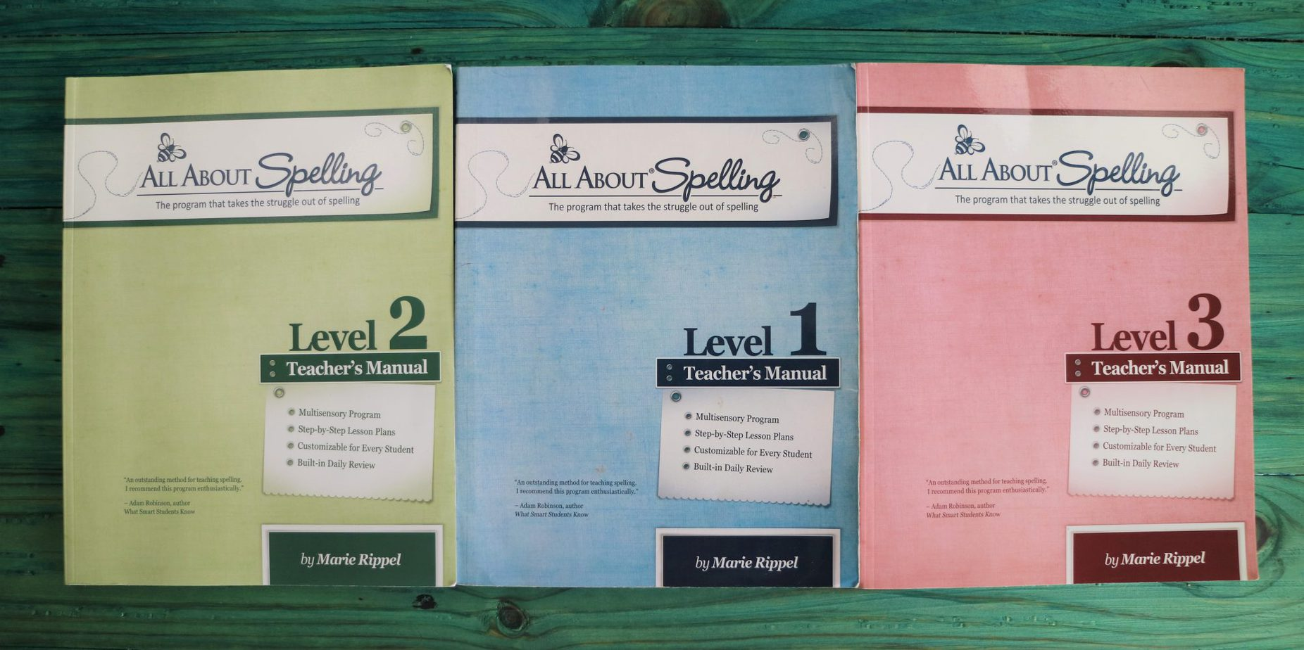 All About Spelling review teacher's manualslevels 1, 2, and 3