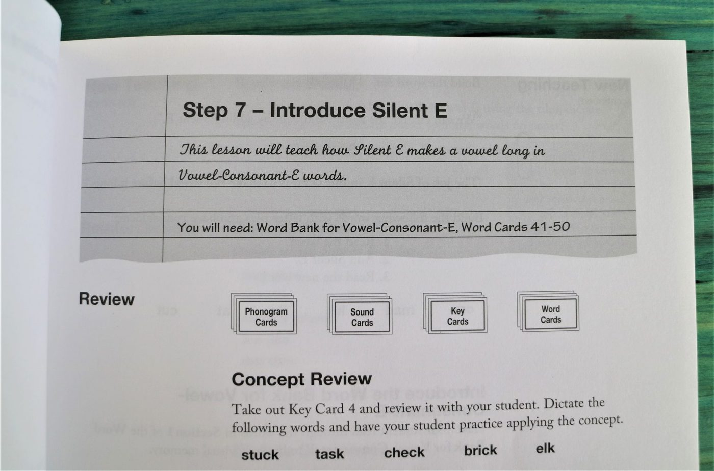 All About Spelling review teacher's manual - silent e